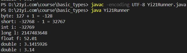 Java 的数字型基础类型的计算