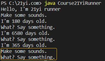 Java 对象和类执行结果6