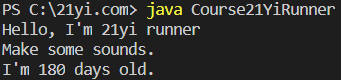 Java 对象和类执行结果2